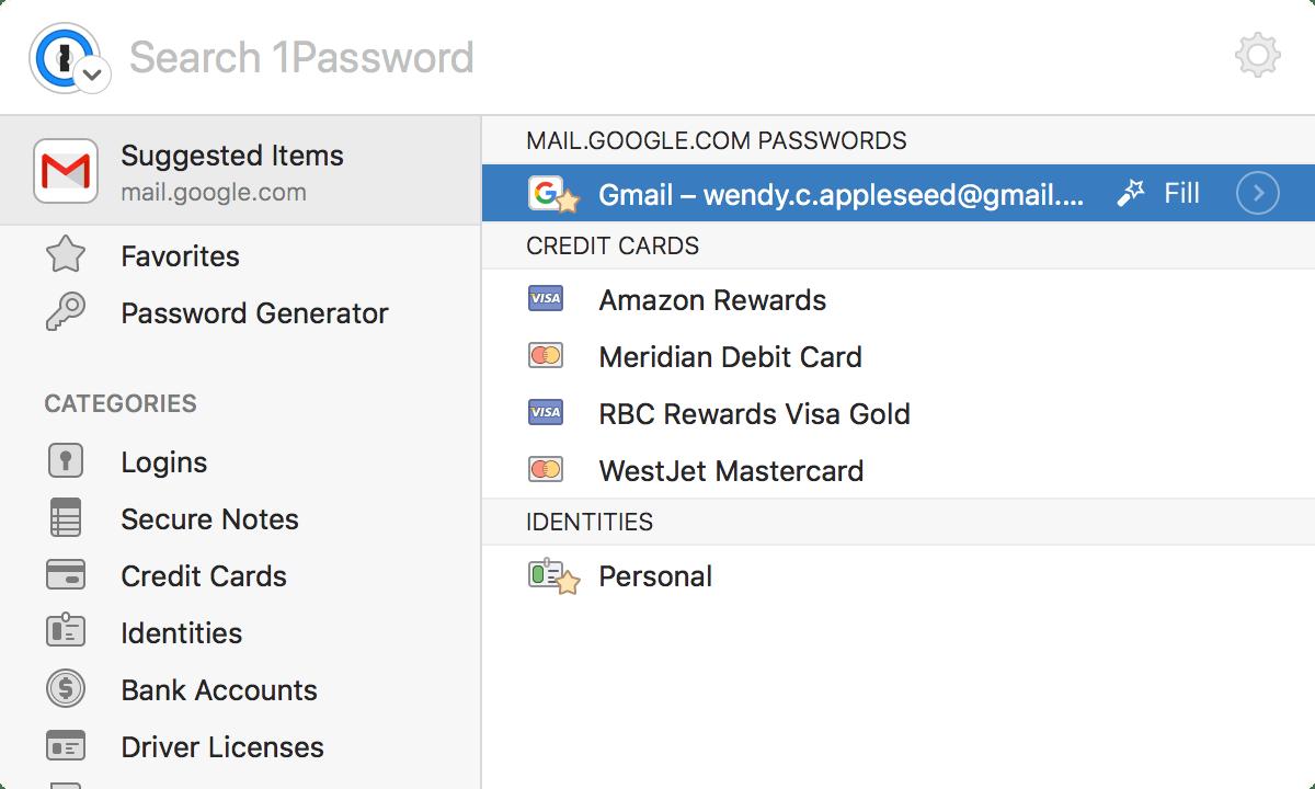 1Password mini