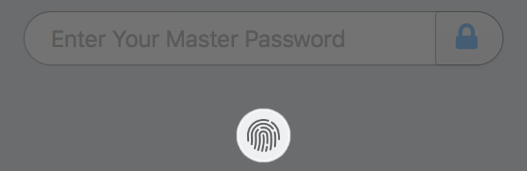 Click the Touch ID button on the lock screen