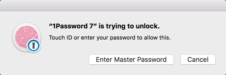 1Password mini is trying to unlock 1Password